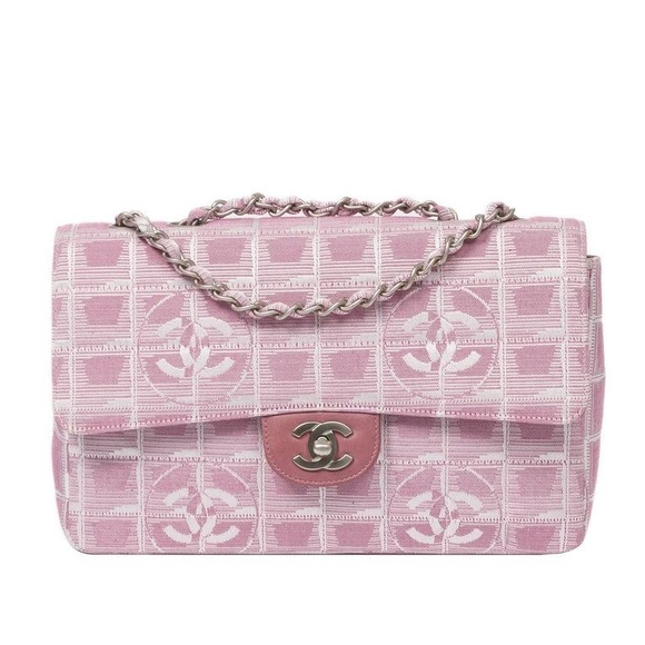 1ba4162bbdcdc3 CHANEL Bags | Iso In Search Of Pink Jacquard Flap Bag | Poshmark